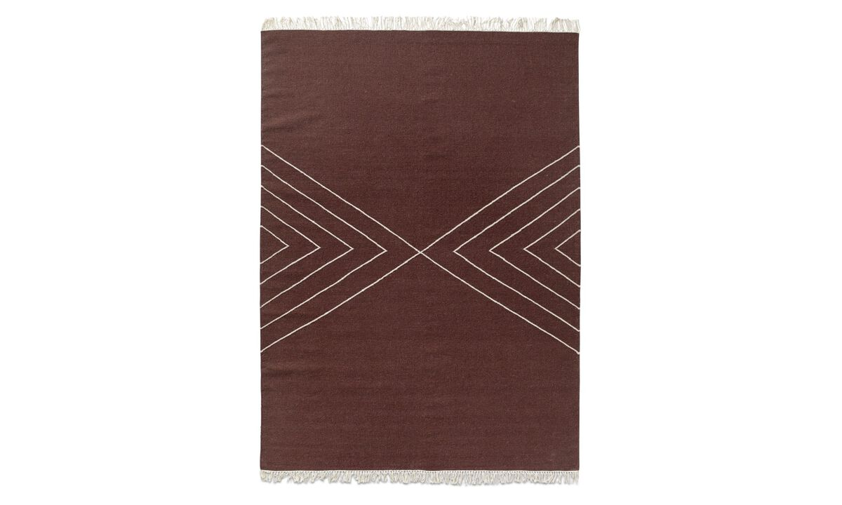 Rectangular rugs - Marmara rug - rectangular - Red - Fabric