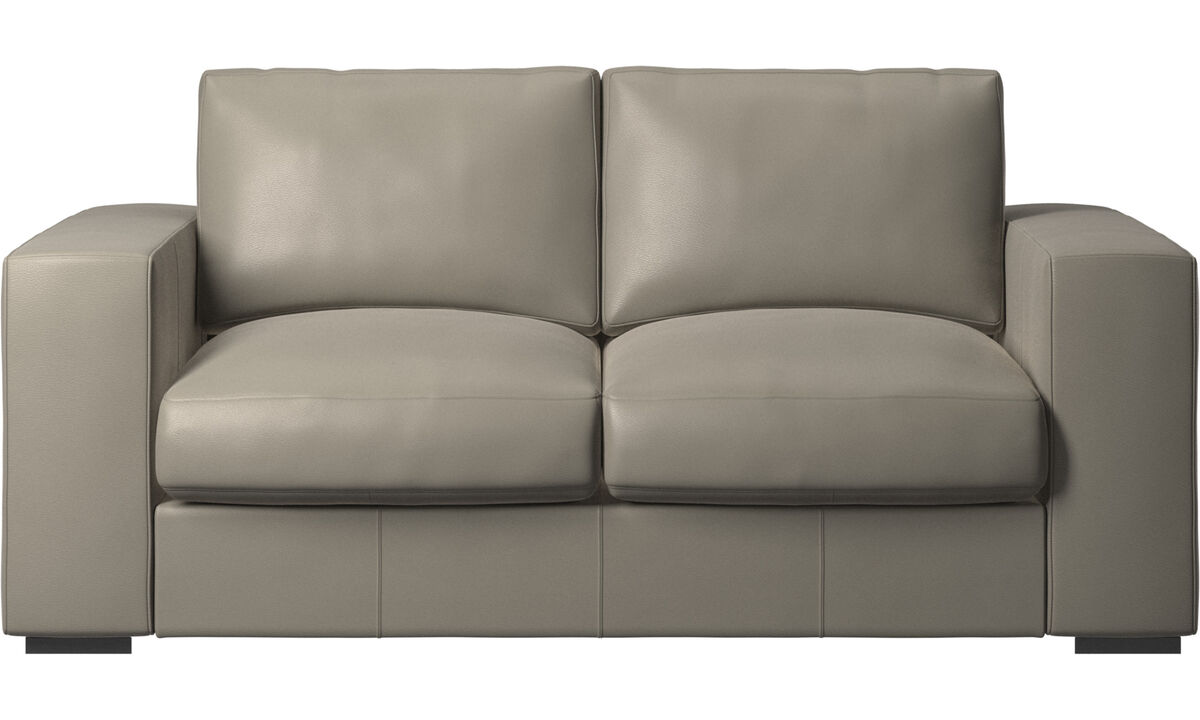 2 seater sofas - Cenova sofa - Grey - Leather