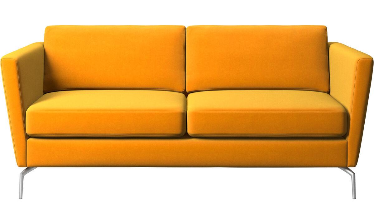 2-sitzer Sofas - Osaka Sofa, klassische Sitzfläche - Orange - Stoff