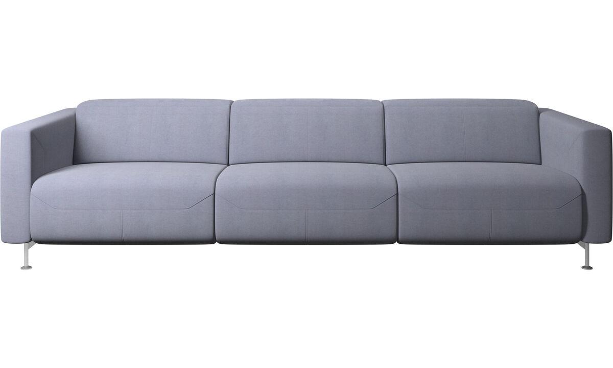 3 θέσιοι καναπέδες - Καναπές Parma με ανάκλιση - Μπλε - Ύφασμα