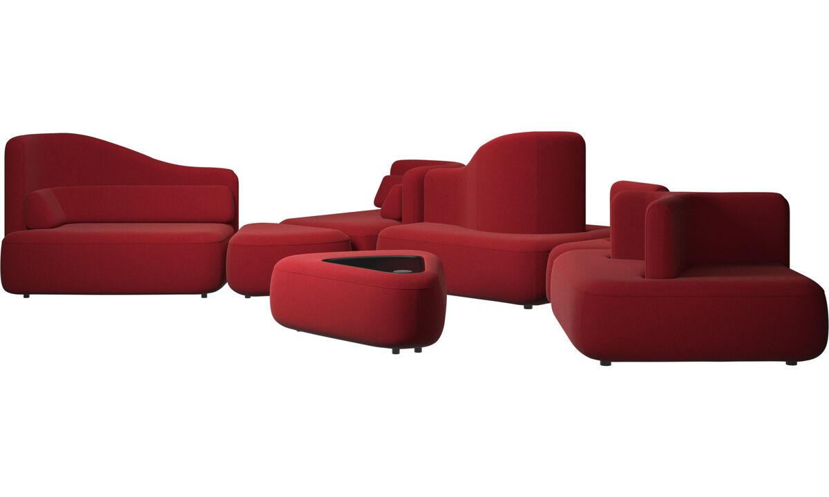 Sofás modulares - Sofá Ottawa - Vermelho - Tecido