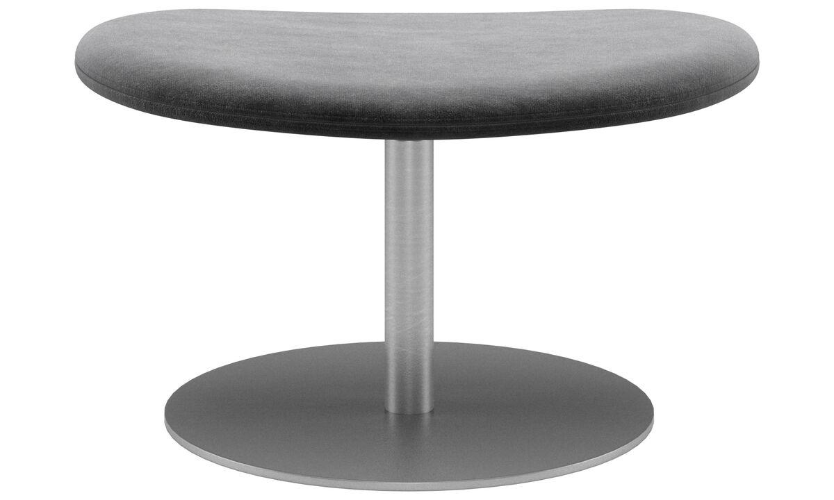 Footstools - Ogi footstool - Grey - Fabric