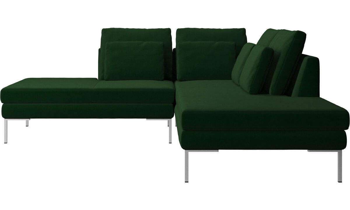 Sofas with open end - Istra 2 divano con lounge - Verde - Tessuto