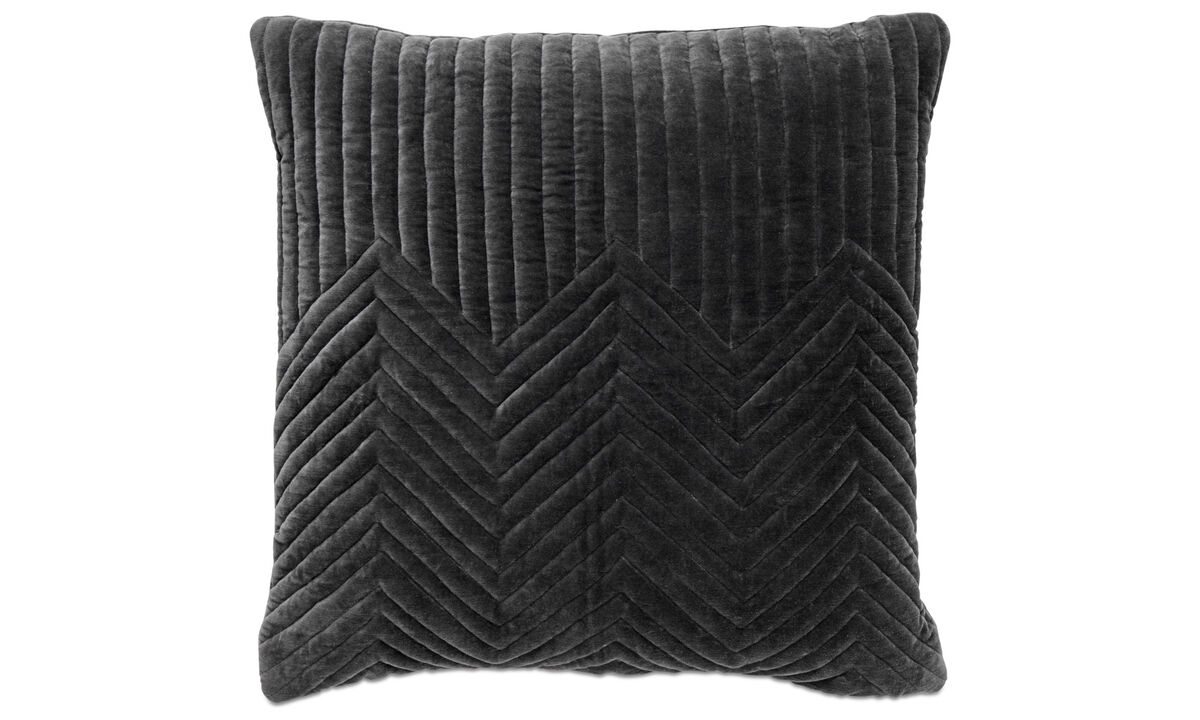 Cojines estampados - cojín Quilt - En gris - Tela
