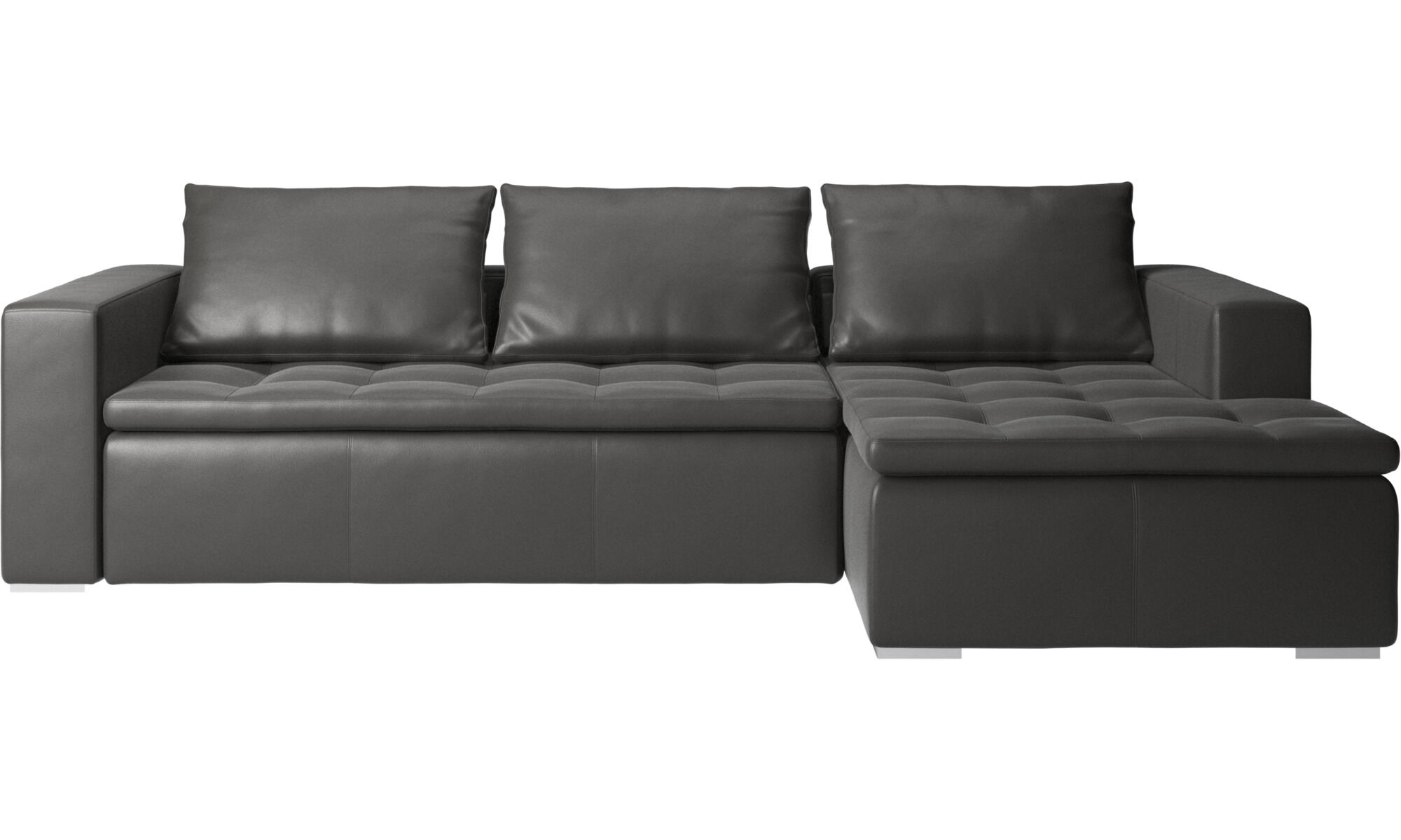 Chaise longue sofas - Mezzo sofa with resting unit - Grey - Leather  sc 1 st  BoConcept : chaise longue sofa - Sectionals, Sofas & Couches