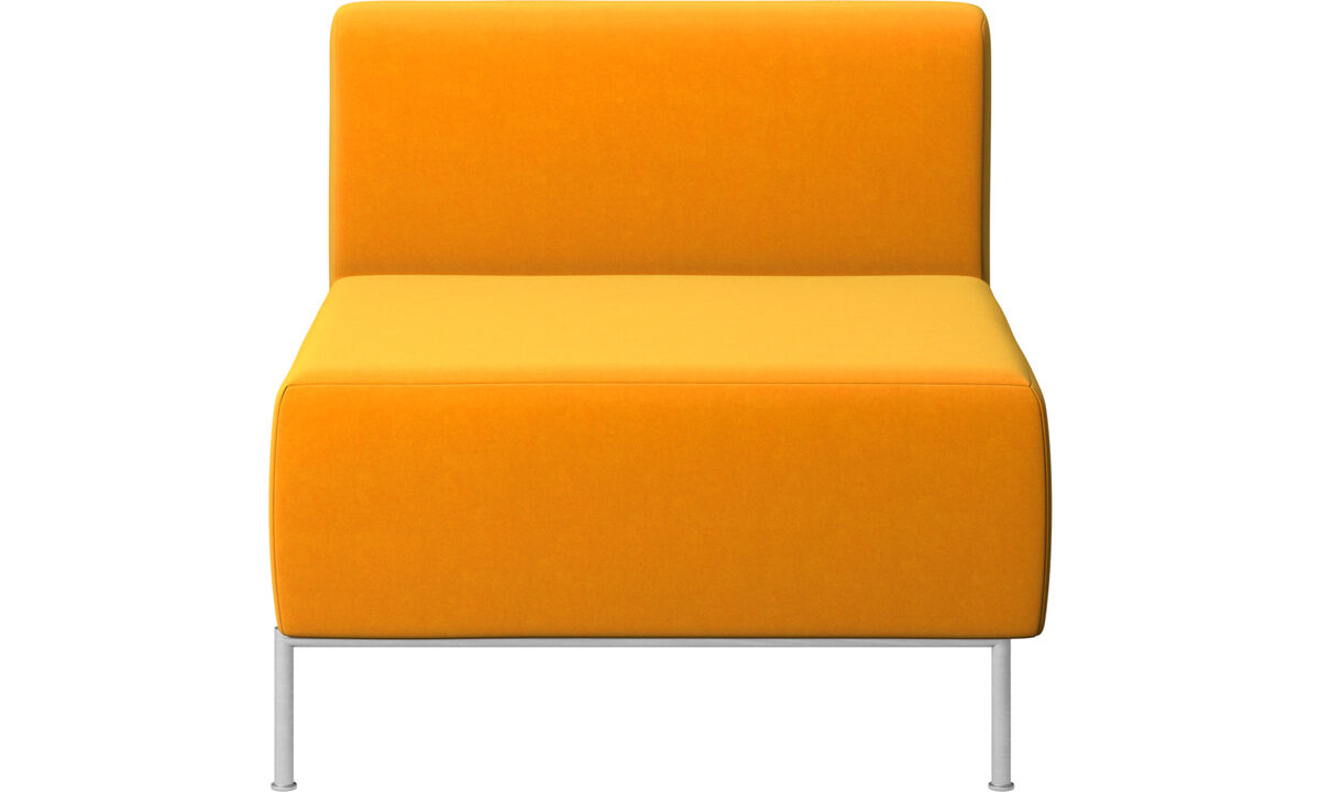 Armchairs - Miami seat with back - Orange - Fabric