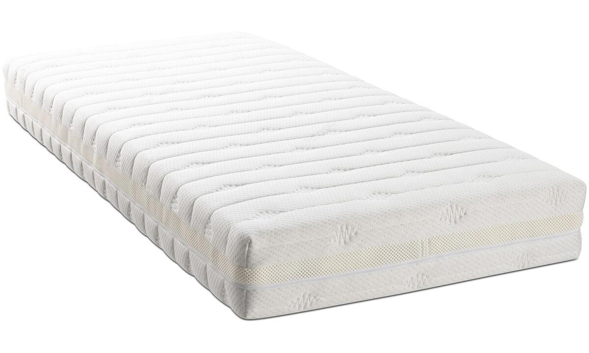 床垫 - 袋装弹簧床垫 - 白色 - 布艺