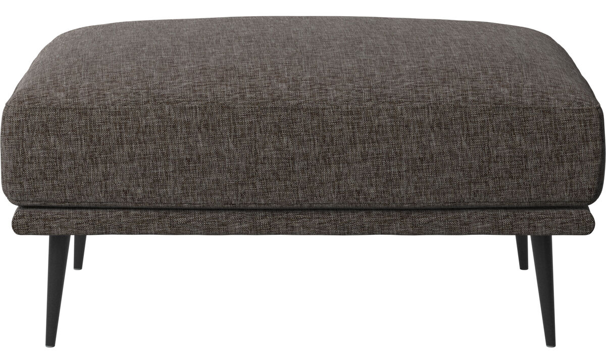 Sofa Hocker - Carlton Hocker - Braun - Stoff