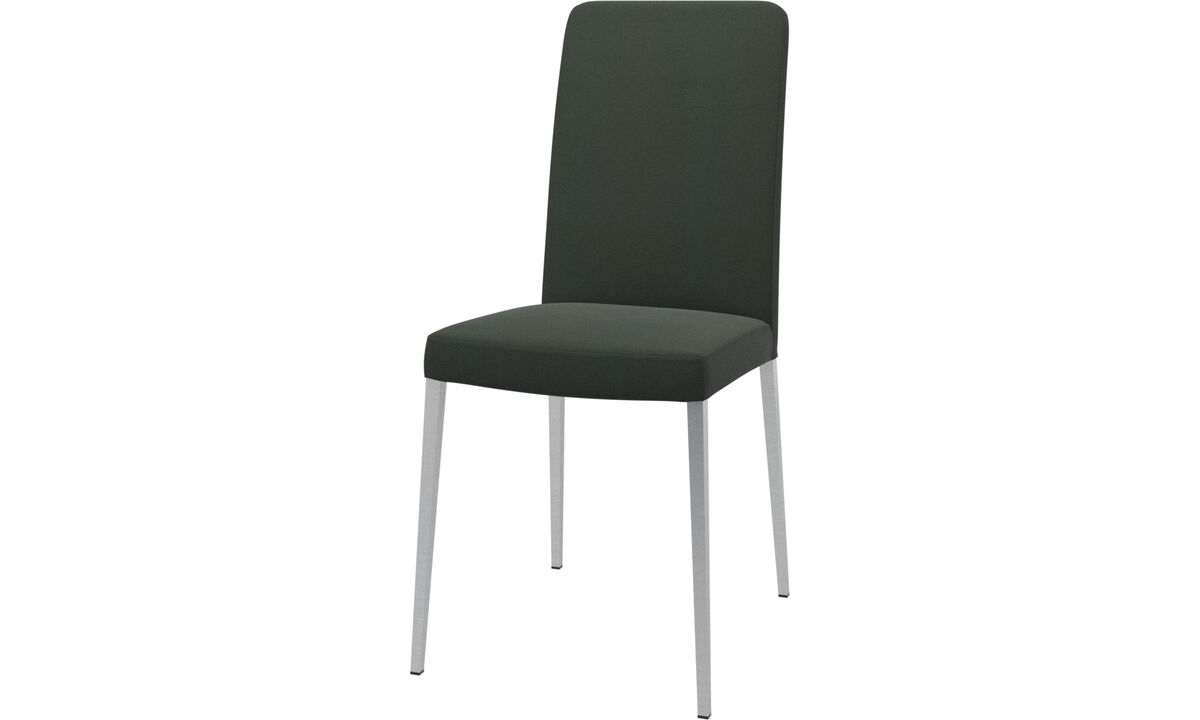 Sillas de comedor - silla Nico - En verde - Tela