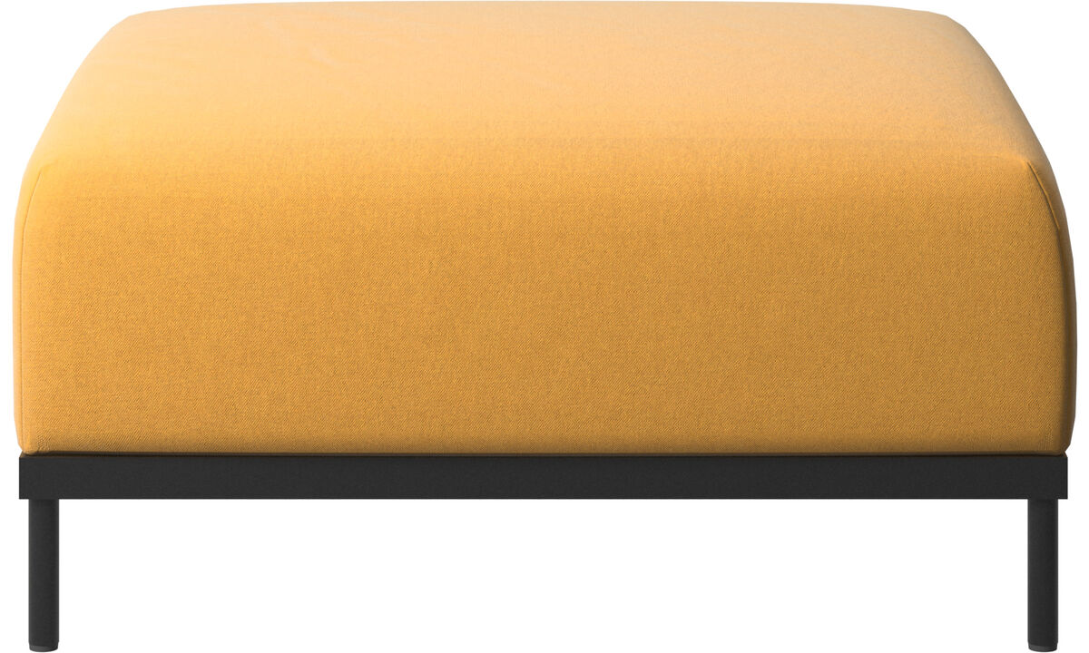 Footstools - Atlanta footstool - Yellow - Fabric