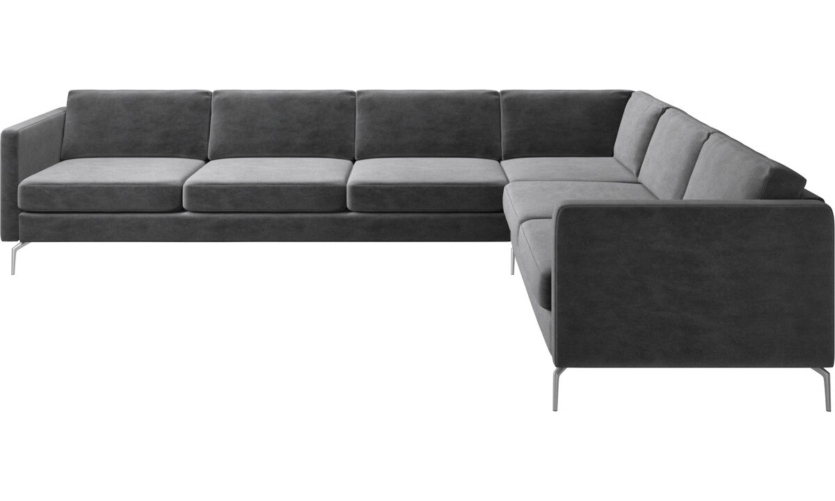 Corner sofas - Osaka corner sofa, regular seat - Gray - Fabric