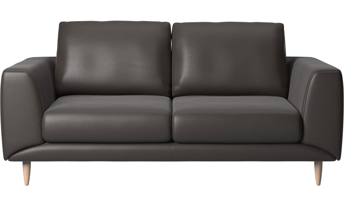 2 seater sofas - Fargo sofa - Brown - Leather