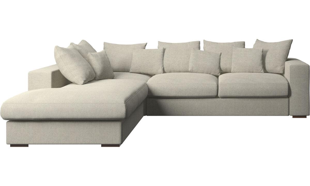 Sofás con lado abierto - sofá Cenova con módulo de descanso - En beige - Tela