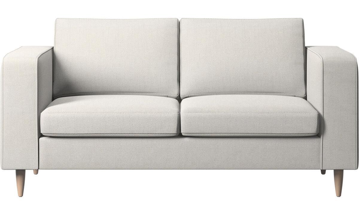 2 seater sofas - Indivi sofa - White - Fabric