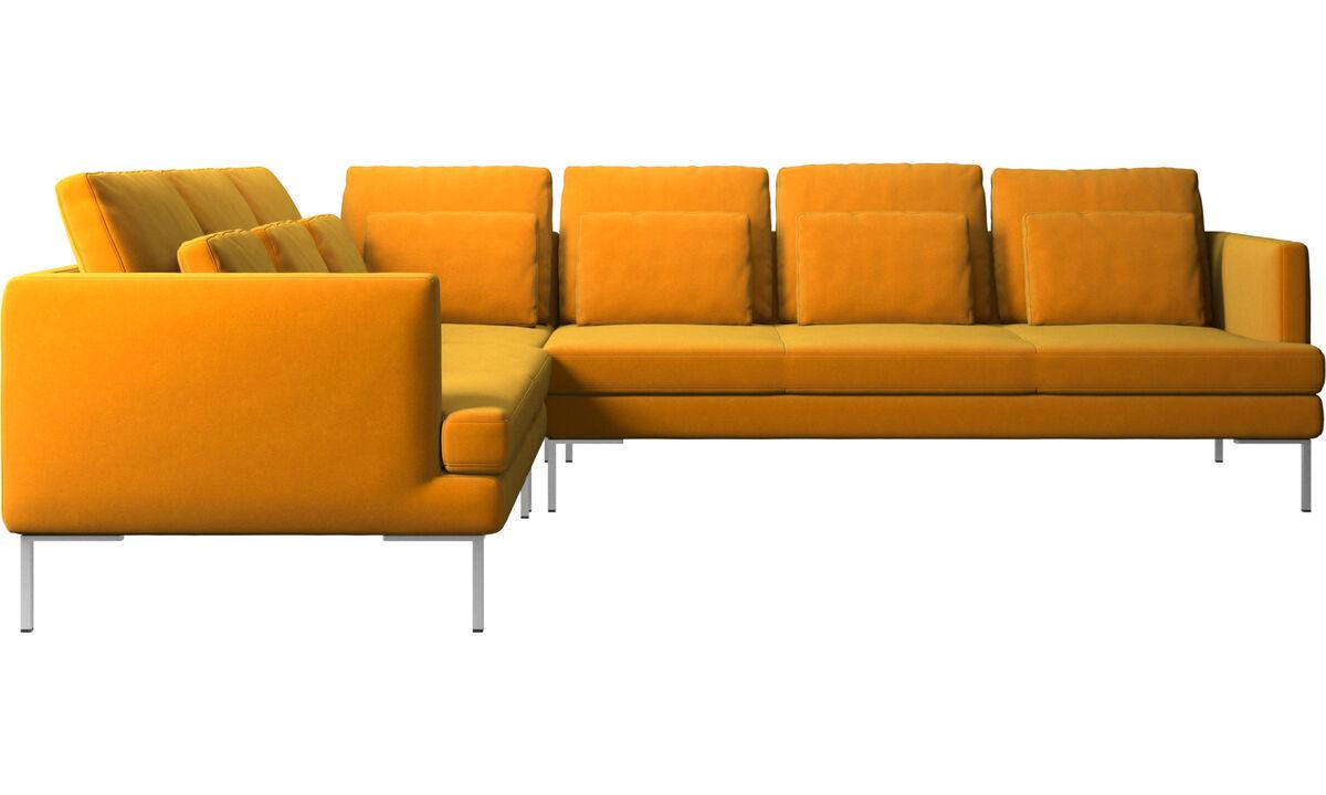 Corner sofas - Istra 2 corner sofa - Orange - Fabric