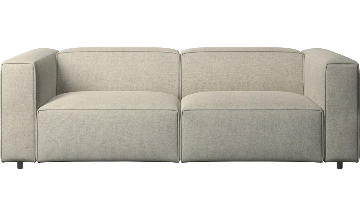 Sofás de 2 plazas y media - Sofá Carmo con movimiento - En beige - Tela