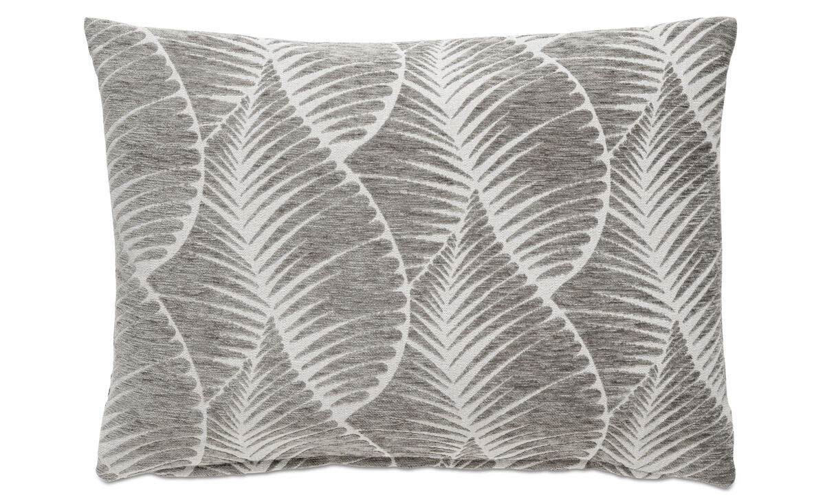 Patterned cushions - Leaf cushion - Grey - Fabric