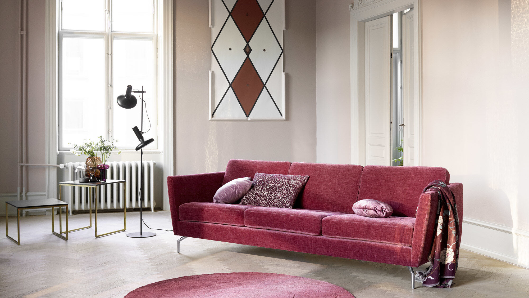 3 seater sofas - Osaka sofa, tufted seat