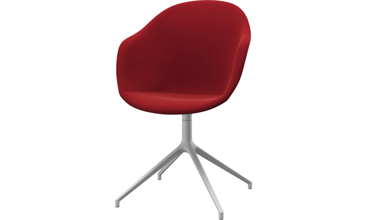Home office chairs - Adelaide chair with swivel function - Red - Fabric