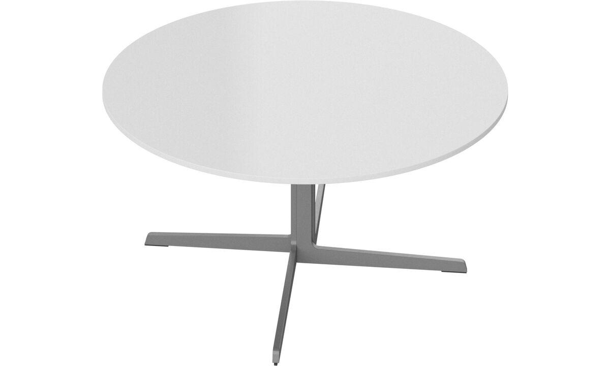 Τραπέζια σαλονιού - τραπέζι σαλονιού Sevilla - ροτόντα - Λευκό - Γυαλί