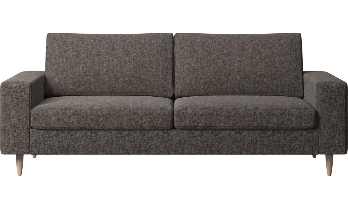 Sofás de 2 plazas y media - Sofá Indivi - En marrón - Tela