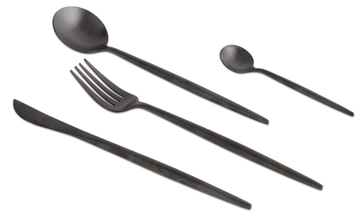 Stel og service - nora cutlery set - Sort - Metal
