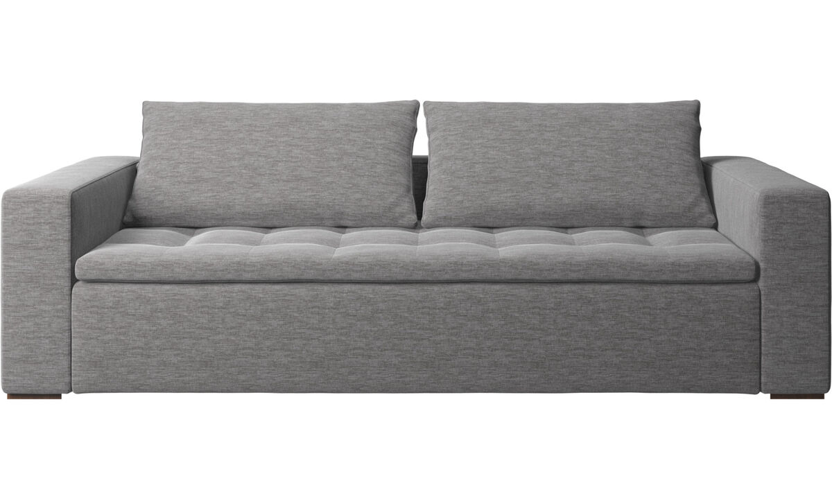 Sofás de 3 plazas - sofá Mezzo - En gris - Tela