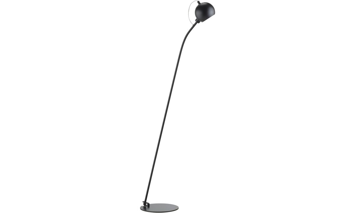 Lamps - Ball floor lamp - Black - Metal
