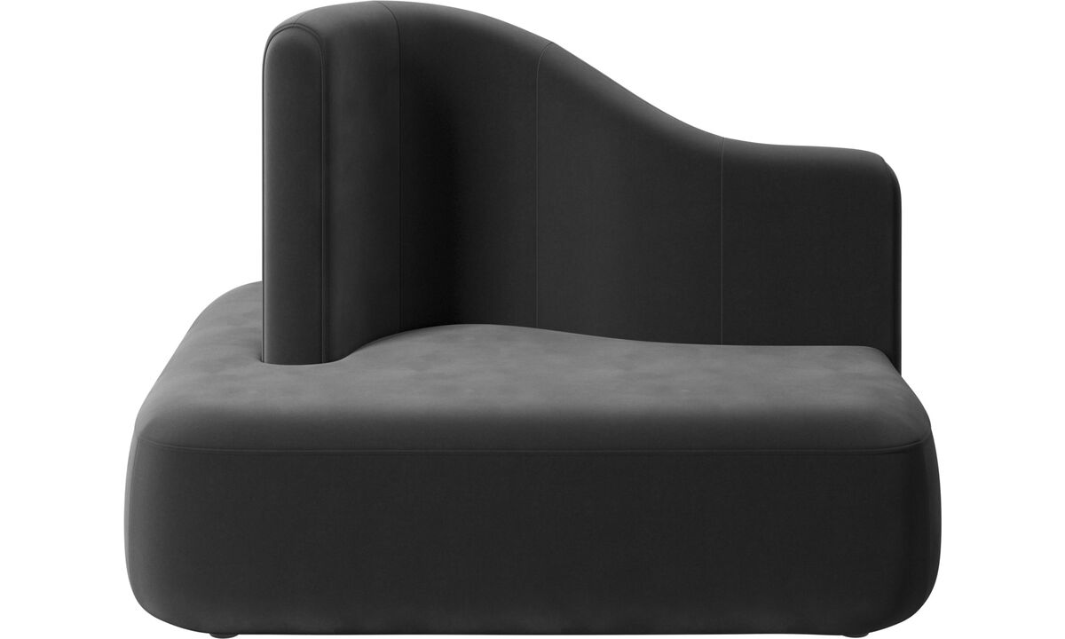 Modular sofas - Ottawa square high back - Black - Fabric