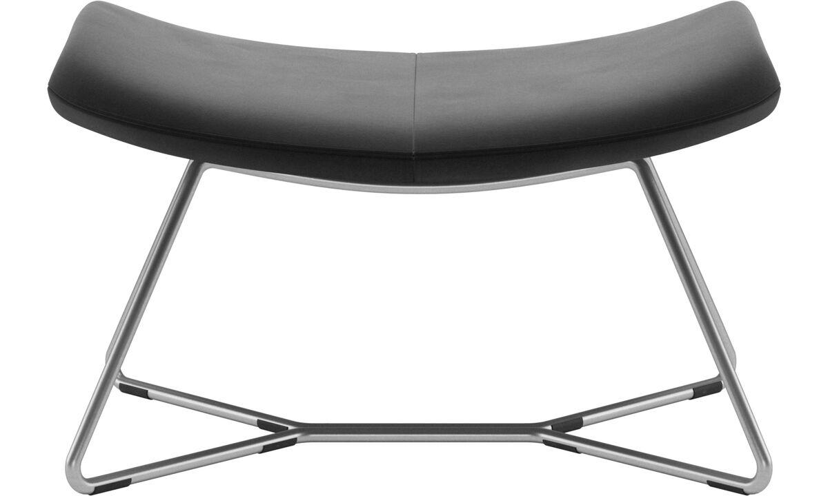 Footstools - Imola footstool - Black - Fabric