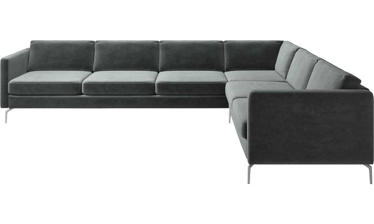 Corner sofas - Osaka corner sofa, regular seat - Green - Fabric
