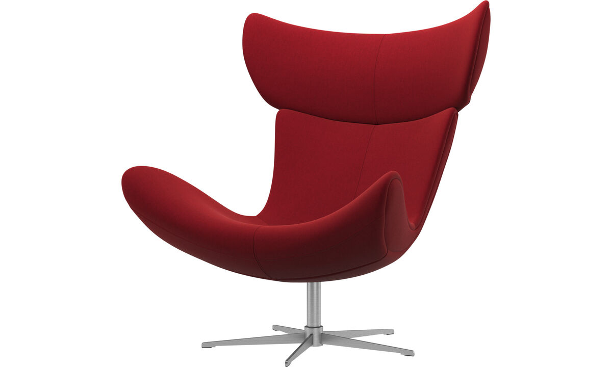 Armchairs - Imola chair with swivel function - Red - Fabric