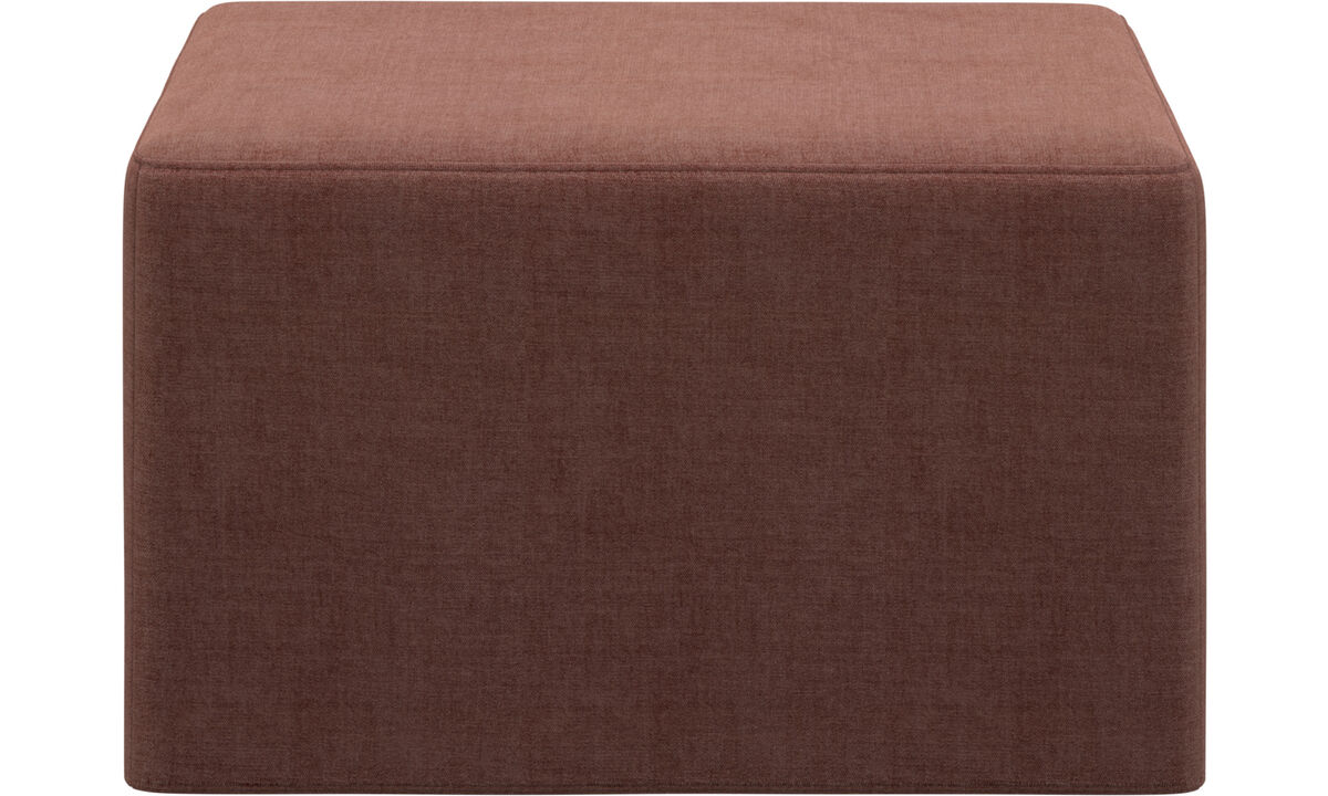 Sofa beds - Xtra footstool with sleeping function - Red - Fabric