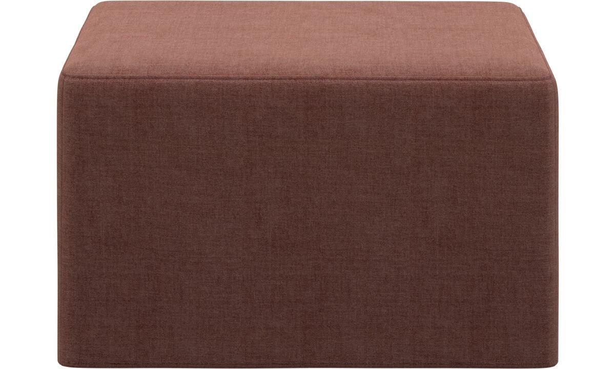 Sofás cama - Xtra puff com opção de cama - Vermelho - Tecido