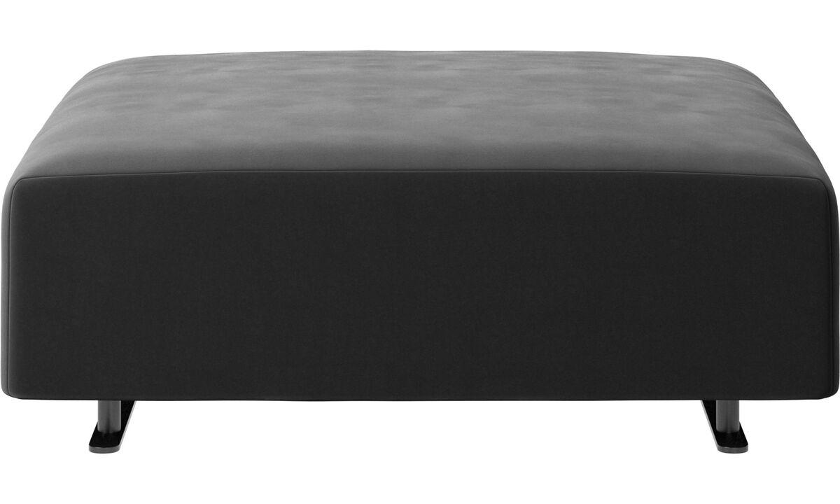 Ottomans - Hampton pouf - Black - Fabric