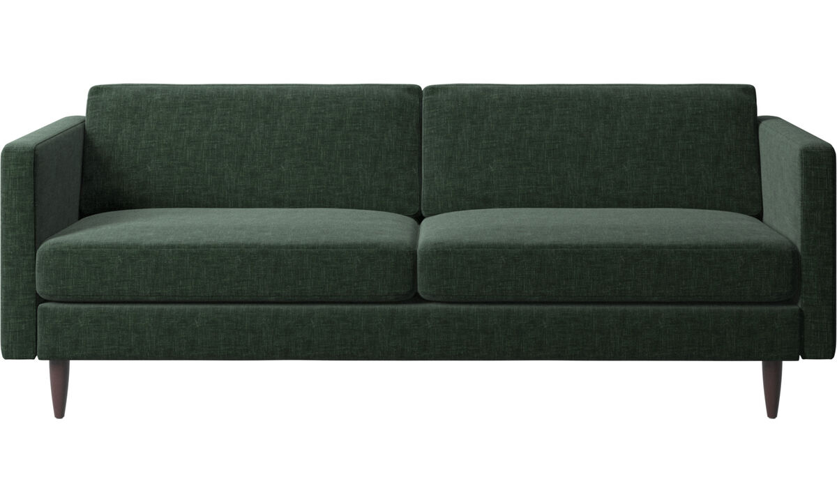 2.5 seater sofas - Osaka sofa, regular seat - Green - Fabric
