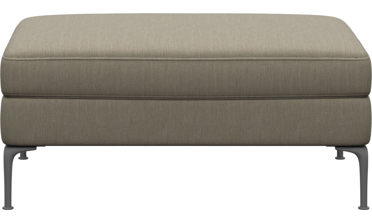 Footstools - Marseille pouf - Brown - Fabric