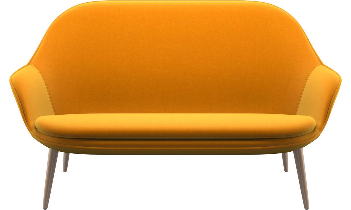 2-sitzer Sofas - Adelaide Sofa - Orange - Stoff