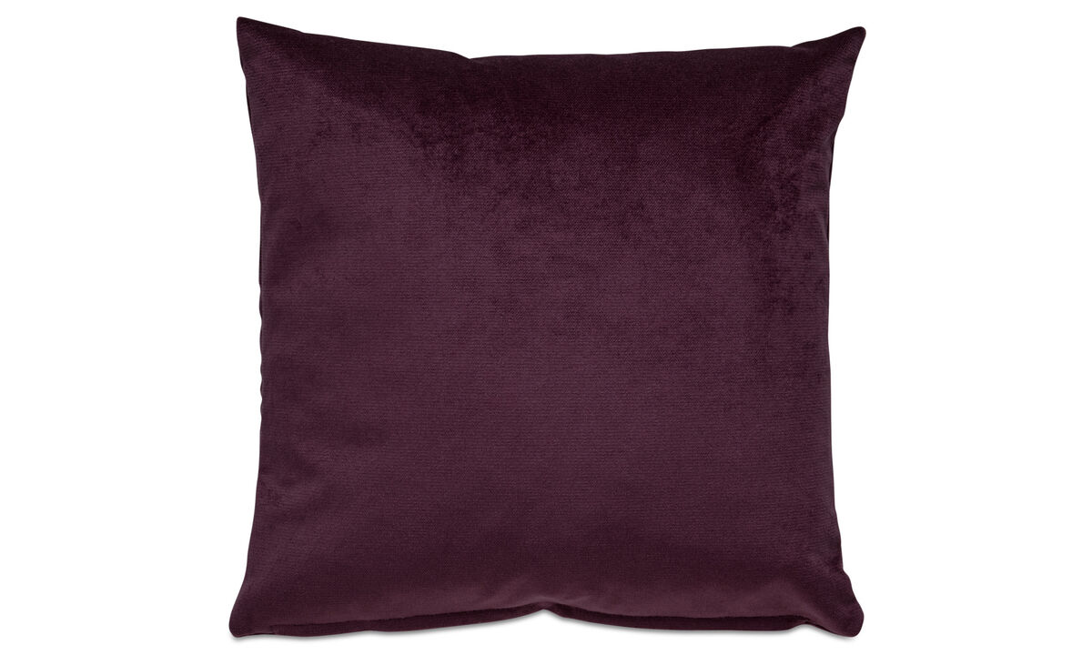 Velvet cushions - Velvet cushion - Purple - Fabric
