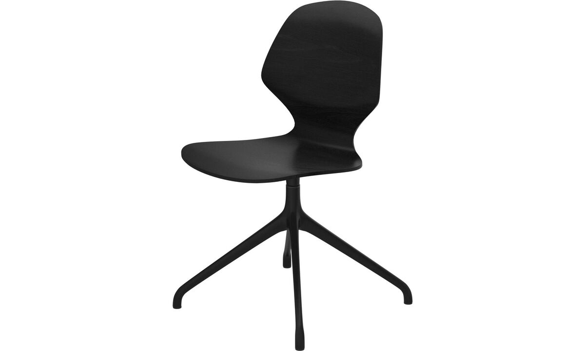 Dining chairs - Florence chair with swivel function - Black - Oak