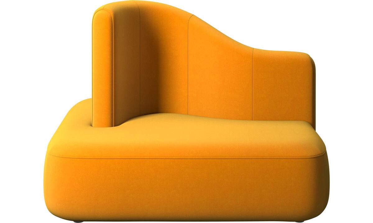 Modulárne sedačky - štvorcový modul Ottawa s  vysokou opierkou - Pomarančová - Látka