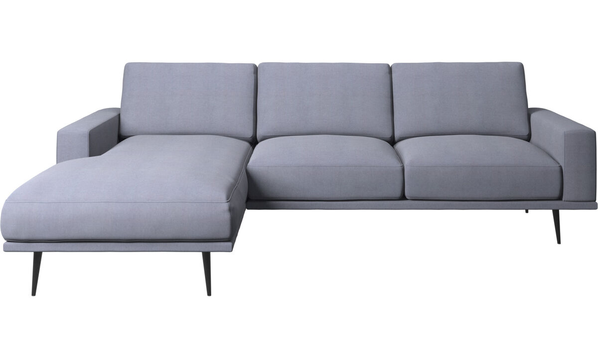Chaise lounge sofas - Carlton sofa with resting unit - Blue - Fabric