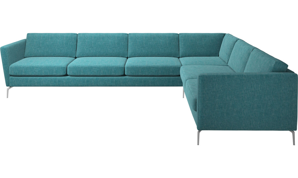 New designs - Osaka corner sofa, regular seat - Blue - Fabric