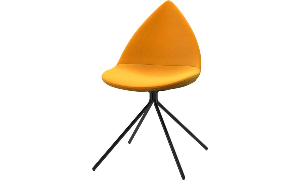 Dining chairs - Ottawa chair - Orange - Fabric