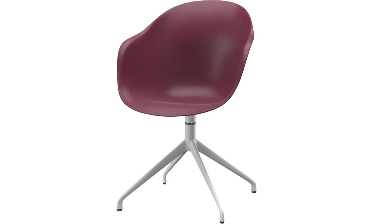 Dining chairs - Adelaide chair with swivel function - Red - Lacquered