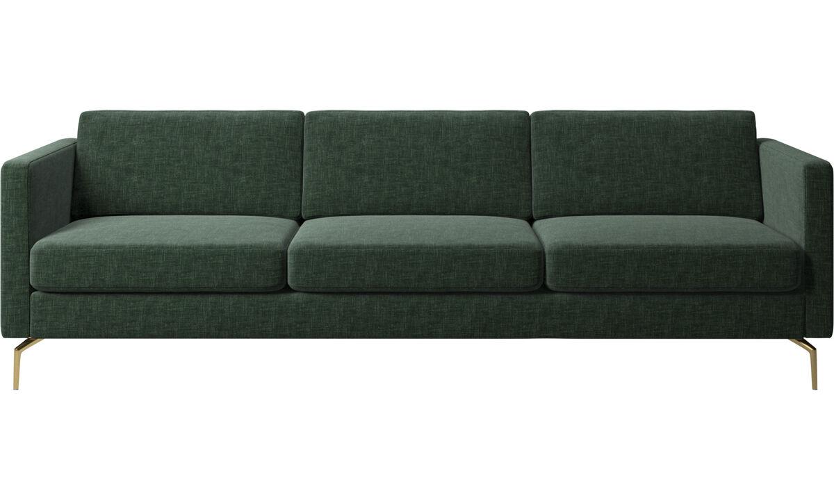 3 seater sofas - Osaka sofa, regular seat - Green - Fabric