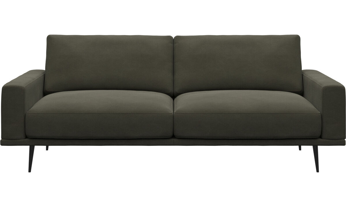 2½-sitzer Sofas - Carlton Sofa - Grün - Leder