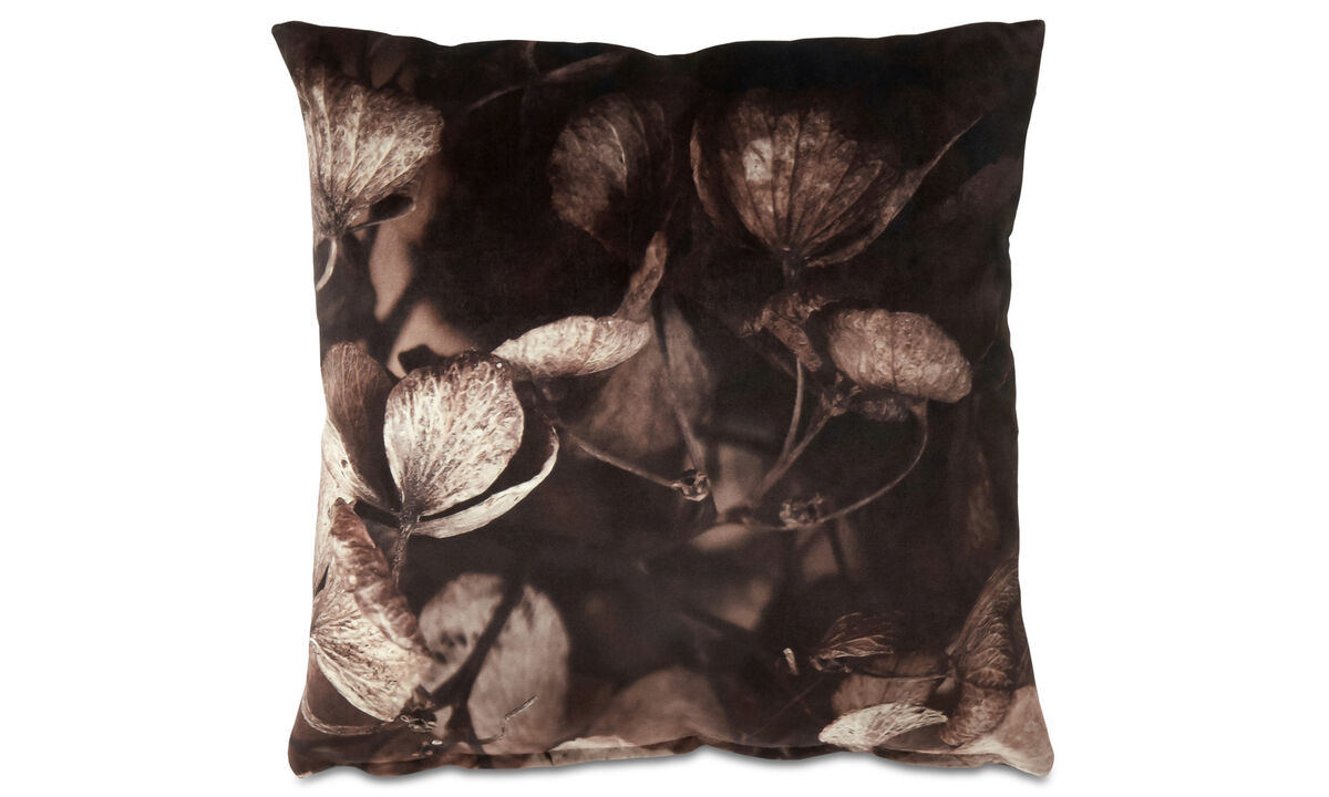 Patterned cushions - Autumn leaves cushion - Brown - Fabric