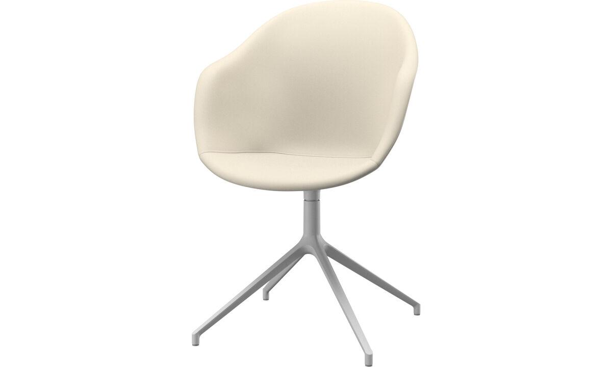 Esszimmerstühle - Adelaide Stuhl mit Drehfunktion - Weiß - Leder