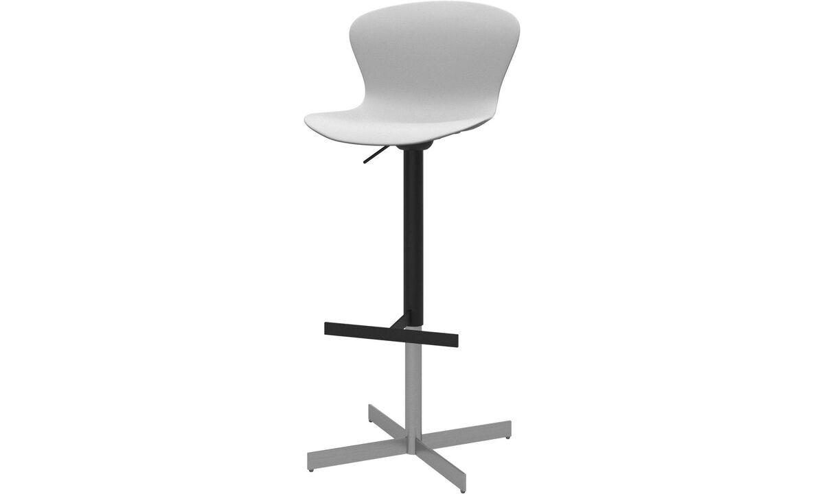 Barstole - Adelaide barstol med gaspatron - Hvid - Plastik